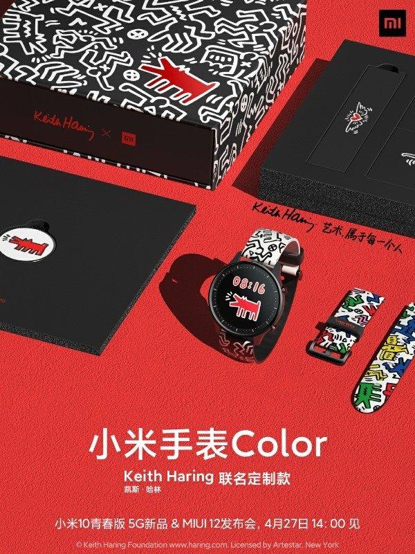 小米手表ColorKeithHaring联名款来了4月27日发布