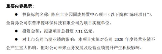 龙净环保出资7.11亿元新建陈庄工