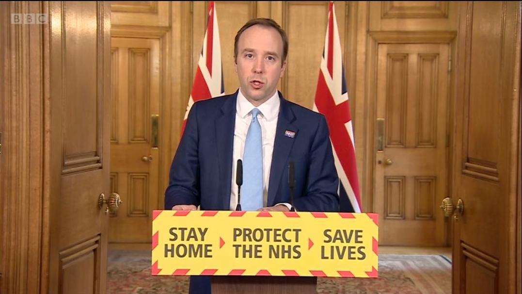 △2日英国首相府每日记者会(图片来源:英国广播公司)