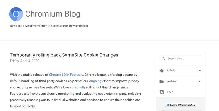 谷歌宣布暂时回滚 Chrome 隐私功能:确保疫情期间网站稳定