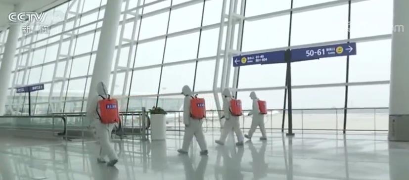 天河机场全面消杀 武汉天河机场