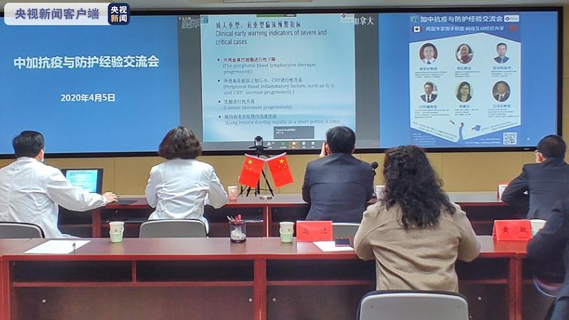 中国与加拿大跨国连线 交流抗疫与防护经验图片