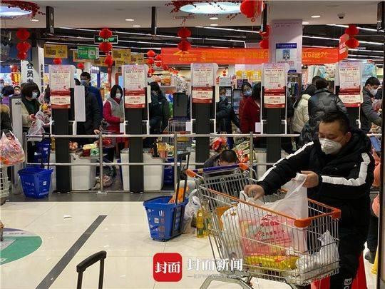 封城当天的武汉超市