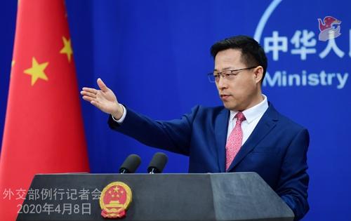2020年4月8日外交部发言人赵立坚主持例行记者会图片