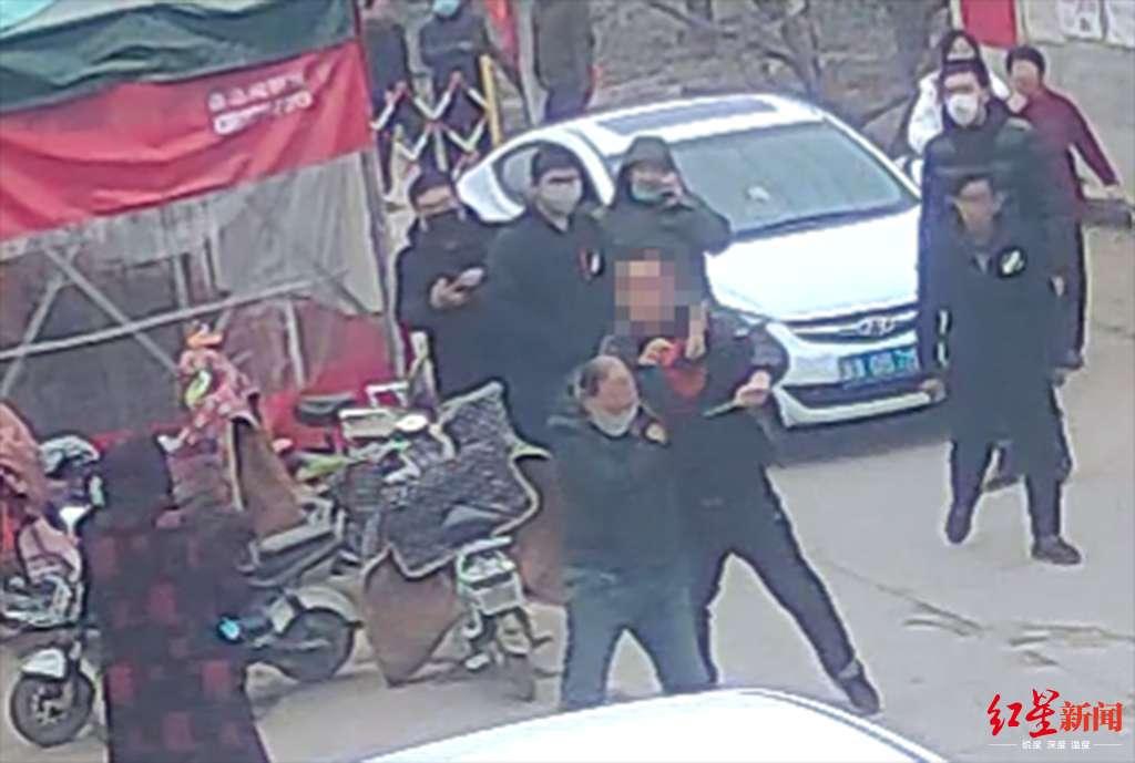 ▲赵县米某强、米某乐涉嫌有意杀人案的事发明场监控录像