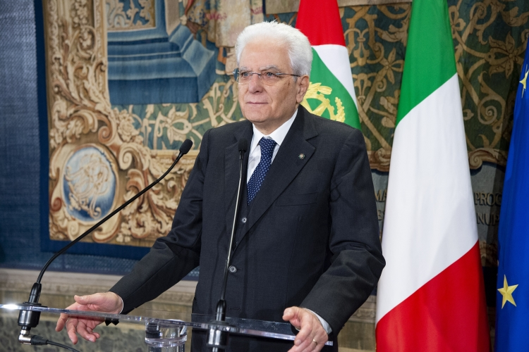 △意大利总统马塔雷 图片来源:意大利总统府网站