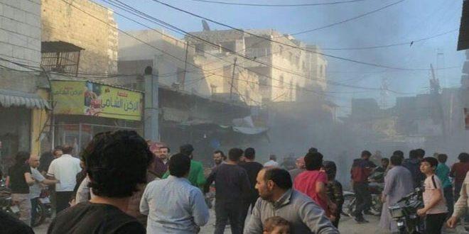 △爆炸袭击现场(图片来源:叙利亚国家通讯社)