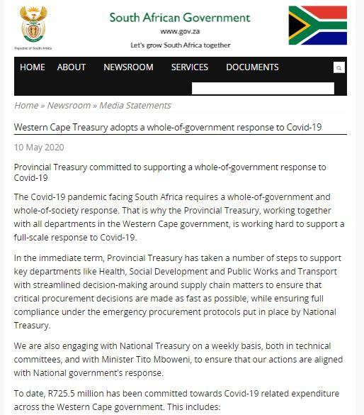 △图片来源:南非政府网