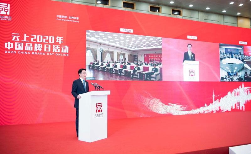 韩正出席云上2020年中国品牌日活动图片