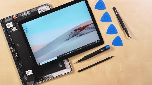 iFixit拆解微软Surface Go 2:可维修性得3分
