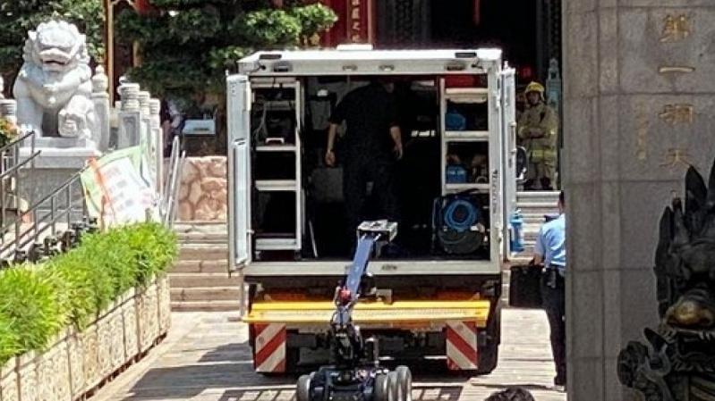 香港黄大仙祠发现可疑物品 警方已到场处理图片