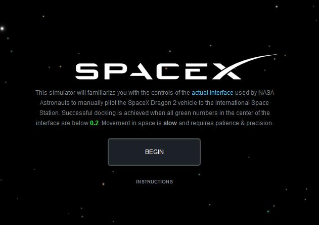 SpaceX发布在线模拟器演示载人飞船如何与空间站对接