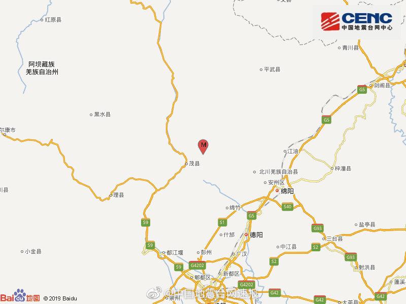 四川茂县发生3.0级地震 震源深度18千米图片