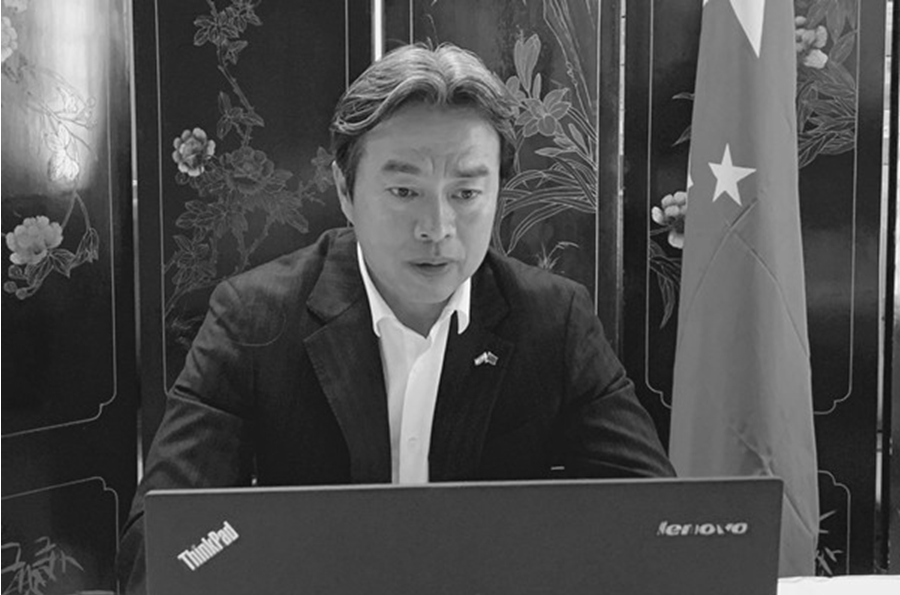 月中国驻摩天娱乐以色列大使,摩天娱乐图片