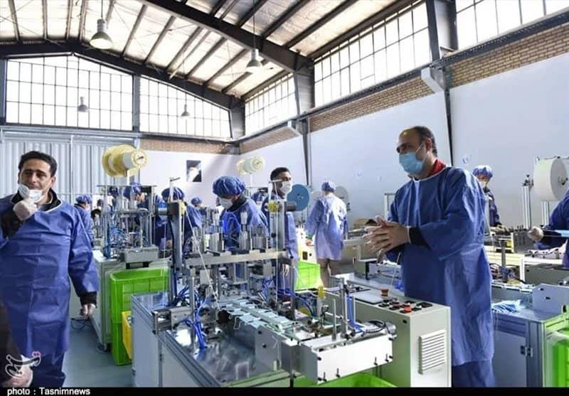 △ 伊朗口罩生产厂 来源:塔斯尼姆通讯社