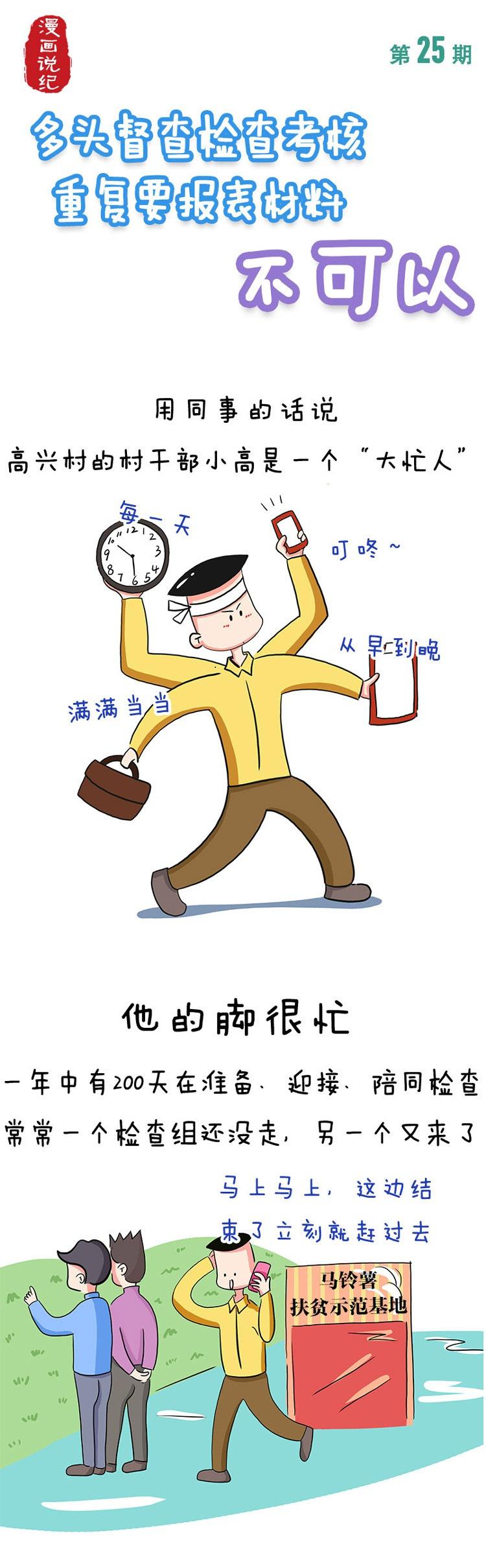 [摩鑫注册]漫画说纪丨多头督摩鑫注册查检查考核重复图片