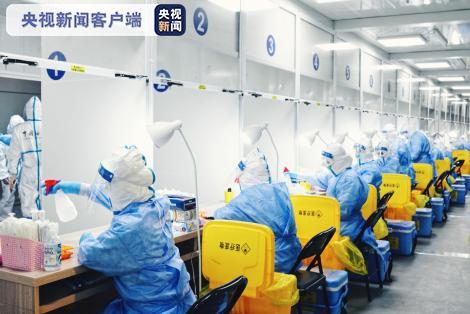 「天富注册」东机场核酸天富注册检测方舱采样室图片