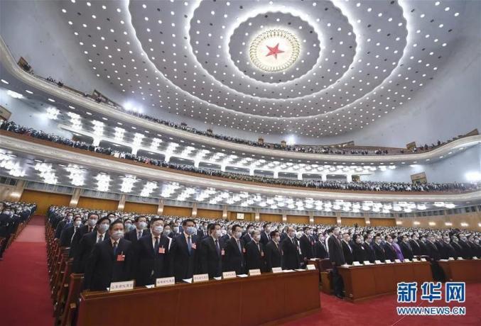 5月22日,第十三届全国人民代表大会第三次集会在北京人民大礼堂开幕。新华社记者 谢环驰 摄