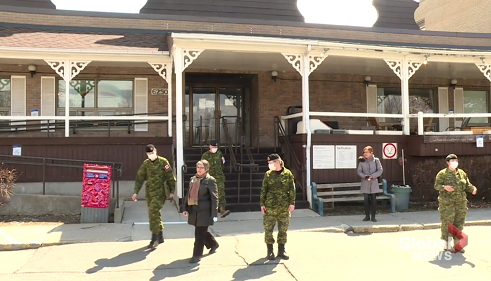 △进驻长期护理机构的加拿大军人
