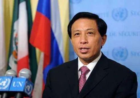 ·2009年6月12日,时任中国常驻联合国代表张业遂在联合国安理会全体会议结束后对媒体发表讲话。