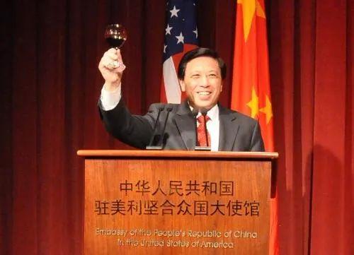 ·2011年1月底,时任驻美大使的张业遂在使馆举办春节招待会。