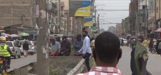 △肯尼亚内罗毕伊斯特利区 目前正实施封锁