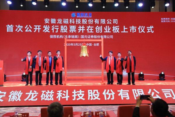 """龙磁科技""""敲钟""""安徽迎来第110家上市公司"""