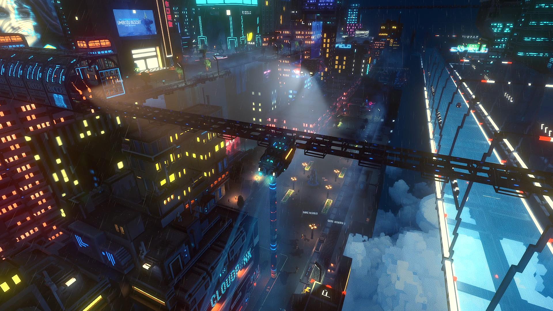 赛博朋克风独立游戏《云端朋克》将加入第一人称