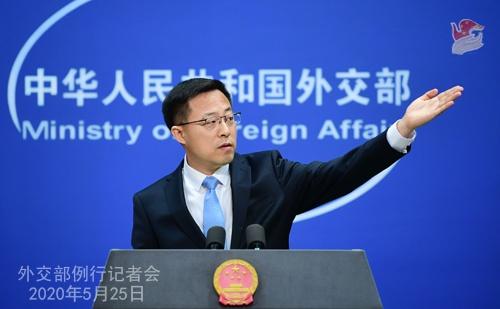 5月25日外交部合乐官网发言人赵立坚,合乐官网图片