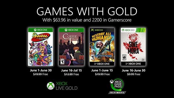 微软Xbox Live Gold金会员6月会免游戏公布