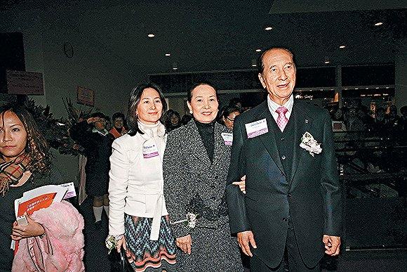 何鸿燊(右)和蓝琼缨(中)。图片来源:视觉中国