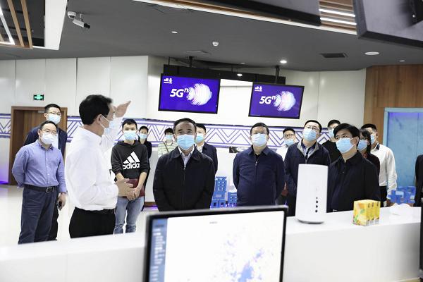 黄文胜带队赴省联通公司5G应用创新联合实验室考察学习