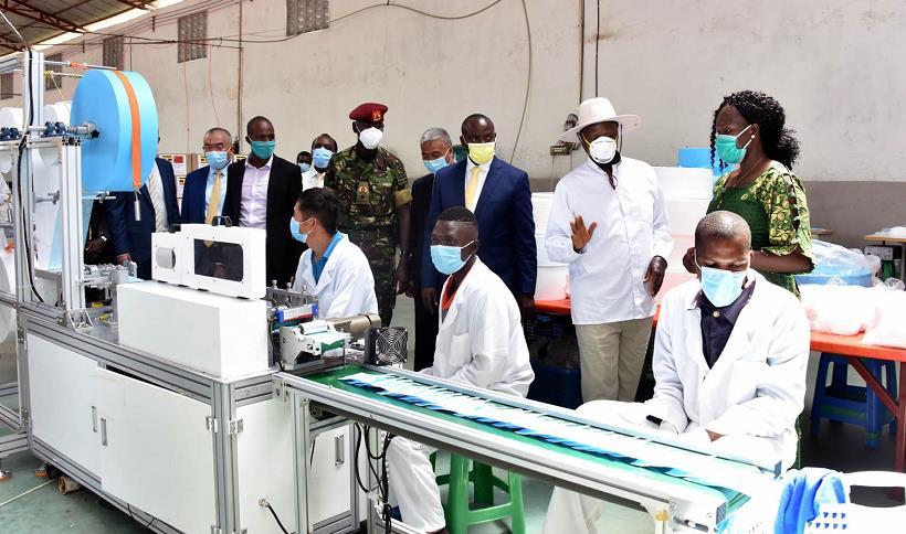 乌干达口罩厂开工 总统穆塞韦尼感谢中国投资