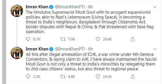 巴基斯坦总理痛批莫迪:傲慢的扩张政策成为邻国威胁