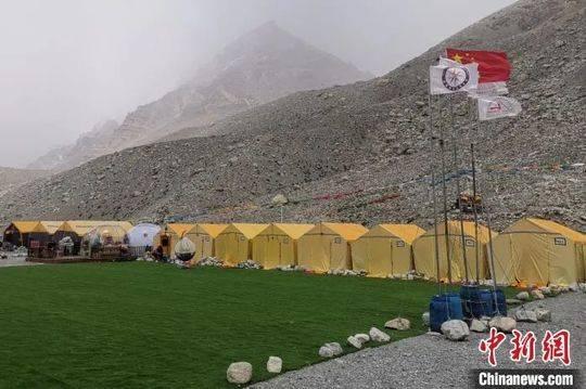资料图:珠峰大本营。袁泉 摄