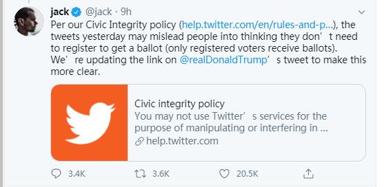 """推特CEO回应给特朗普贴""""事实核"""