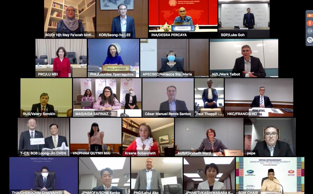 马来西亚举办2020年亚太经合组织会议高级别官员视频会议