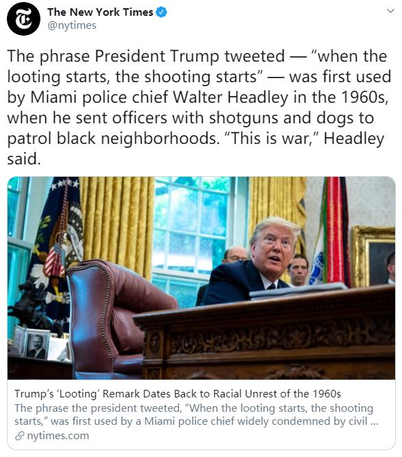 《纽约时报》推特截图