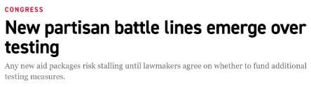 """△""""政客""""新闻网发布""""检测问题成为党派之争的新议题"""""""