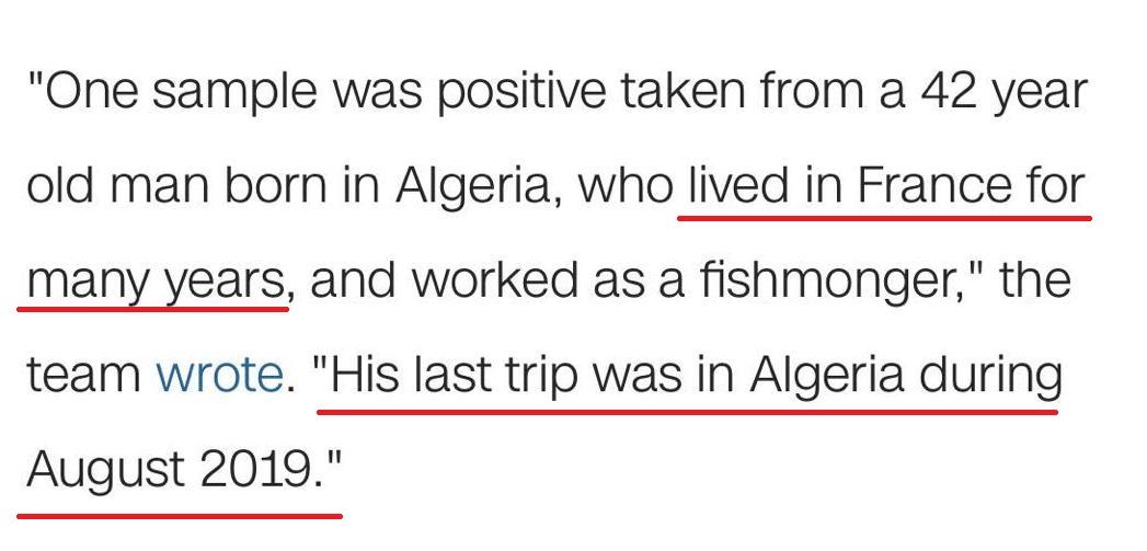 """△CNN相关报道""""该男子长期居住法国,最近一次旅行是2019年8月前往阿尔及利亚"""""""