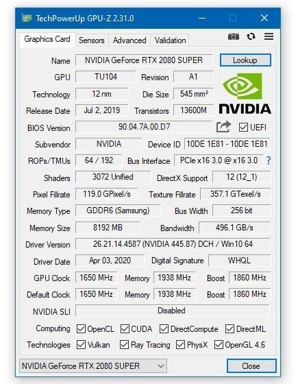 显卡识别工具GPU-Z 2.31.0发布:支持一大波笔记本N卡