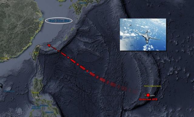 台媒:美战略轰炸机飞入东海 本月第3次现身台湾附近图片