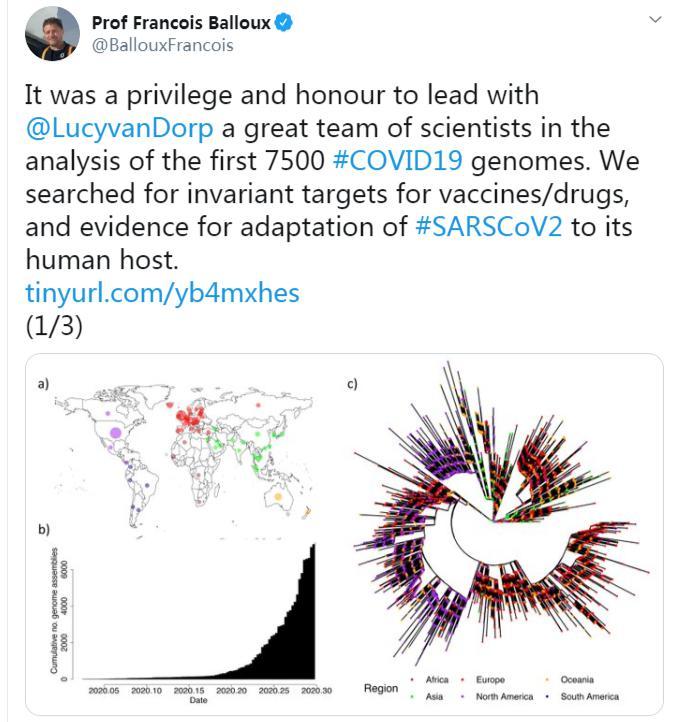 △英国一项研究发现去年年底新冠病毒或已在全球迅速传播