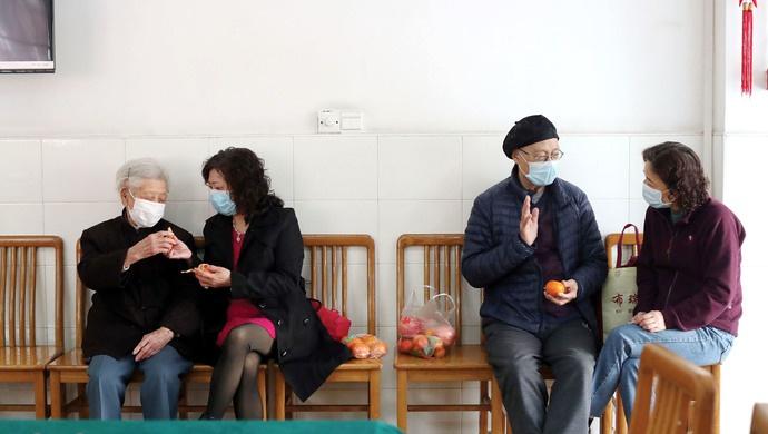 天富,上海养老天富机构向所有入住老年人家属开图片