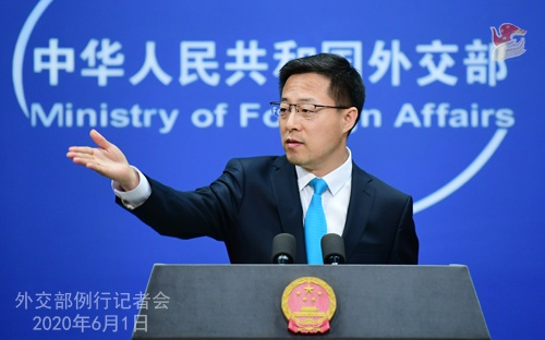 2020年6月1日外交部发言人赵立坚主持例行记者会图片