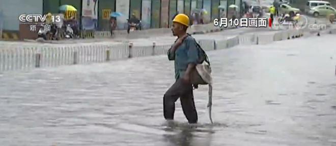 安徽多地暴雨 城区低洼地段出现积水图片