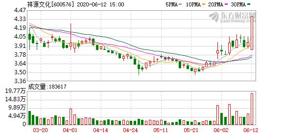 祥源文化(600576)龙虎榜数据(06-12)