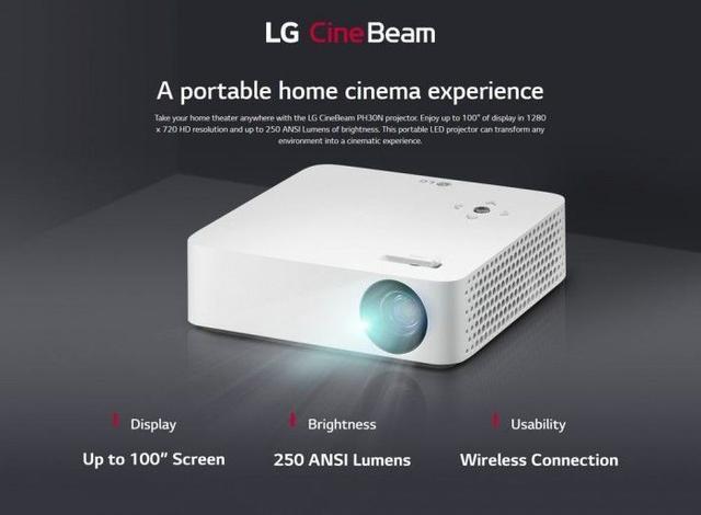 LG 发布最新 CineBeam 投影仪:电池供电,便携可投 100 英寸