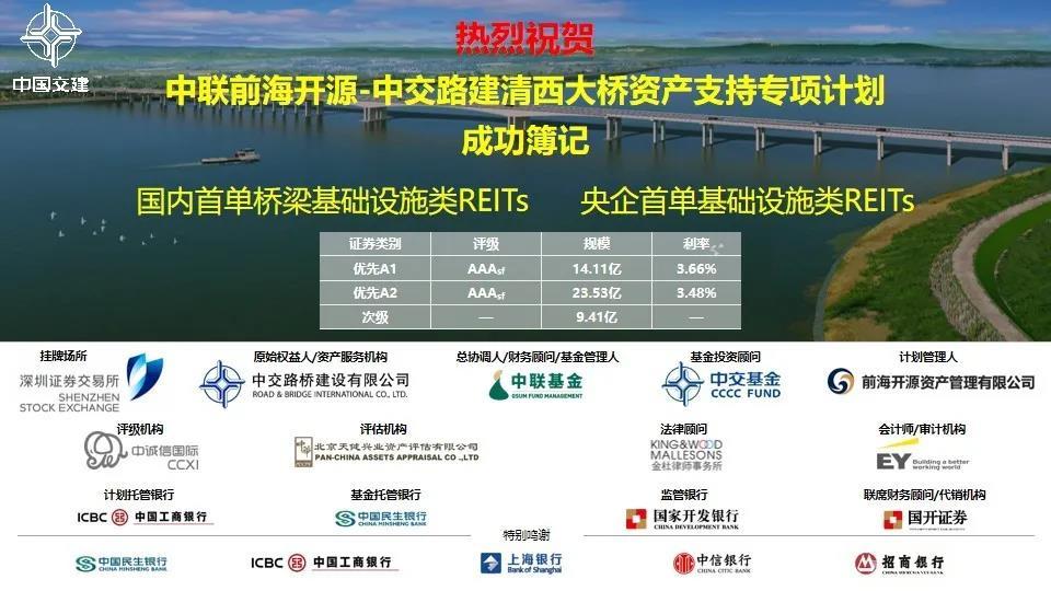 「天富」功簿记发行国内首单桥梁基础天富设施资产支图片