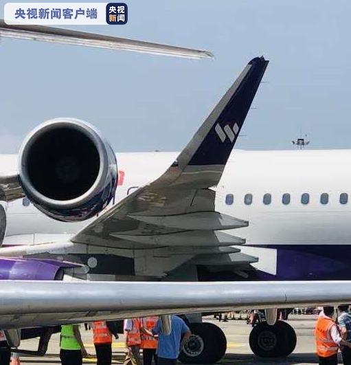 重庆机场两客机停机坪内发生剐蹭 无人员受伤图片
